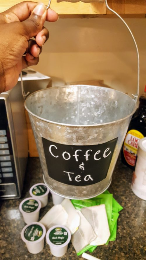 Chalkboard Coffee Tea Bucket